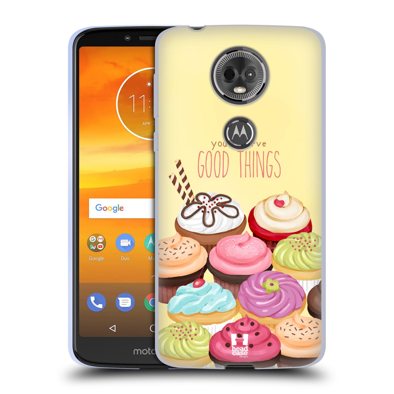 Silikonové pouzdro na mobil Motorola Moto E5 Plus - Head Case - CUPCAKE GOOD THINGS