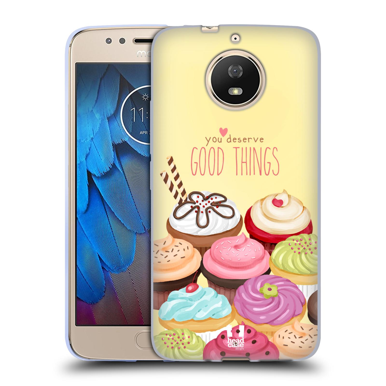Silikonové pouzdro na mobil Lenovo Moto G5s - Head Case - CUPCAKE GOOD THINGS