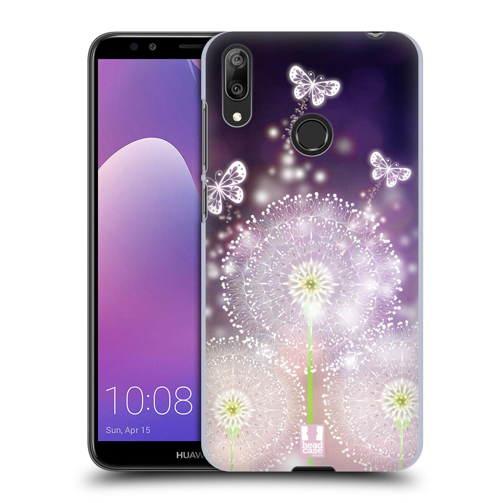 Plastové pouzdro na mobil Huawei Y7 (2019) - Head Case - Pampelišky a Motýlci
