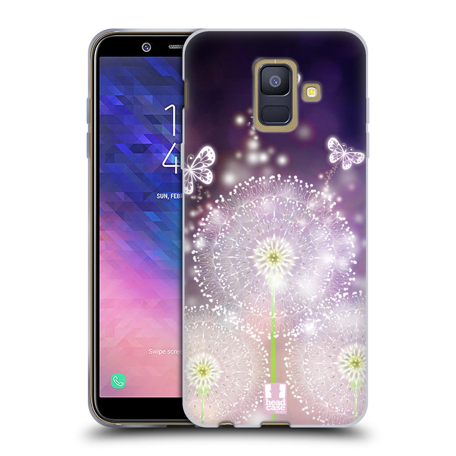 Silikonové pouzdro na mobil Samsung Galaxy A6 (2018) - Head Case - Pampelišky a Motýlci