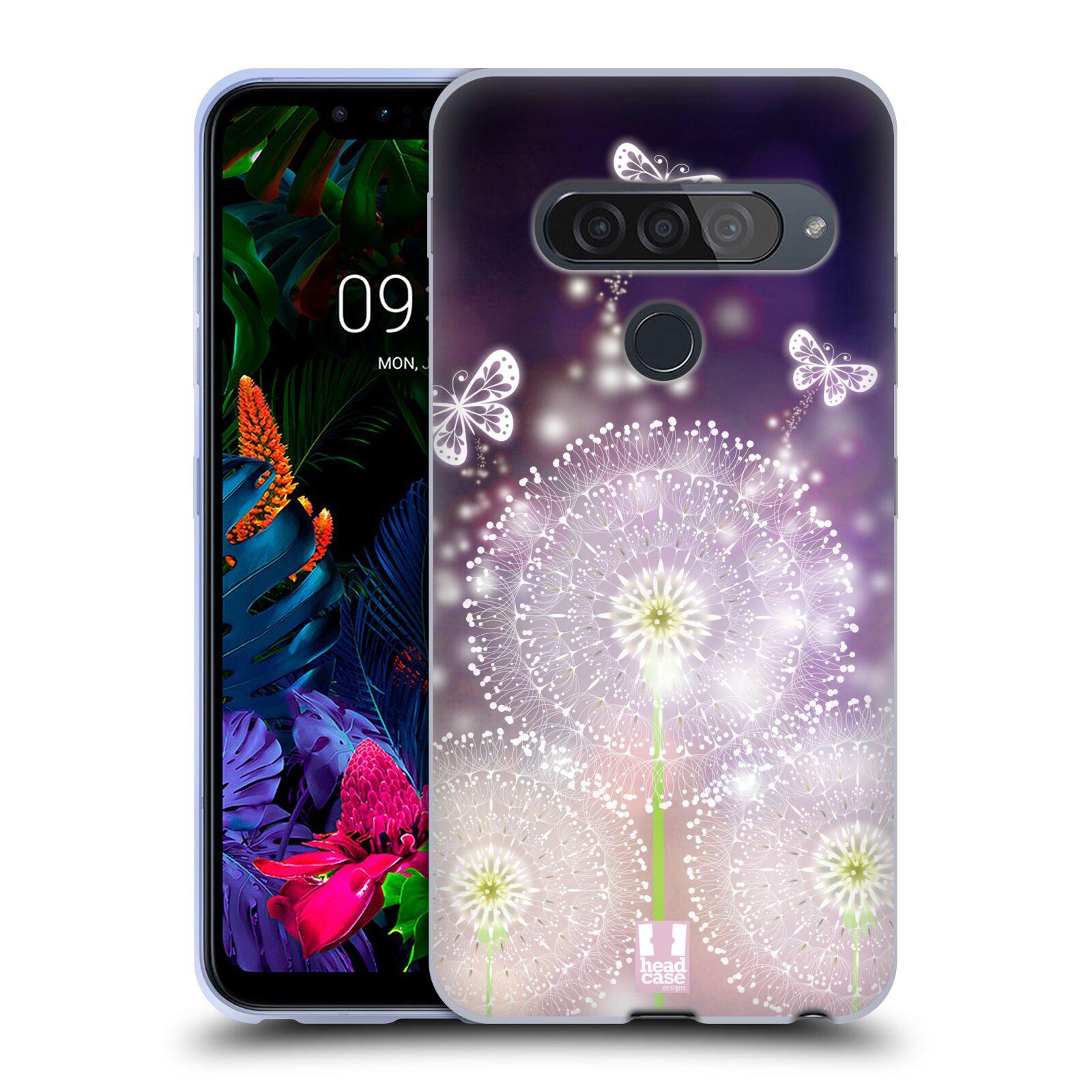 Silikonové pouzdro na mobil LG G8s ThinQ - Head Case - Pampelišky a Motýlci