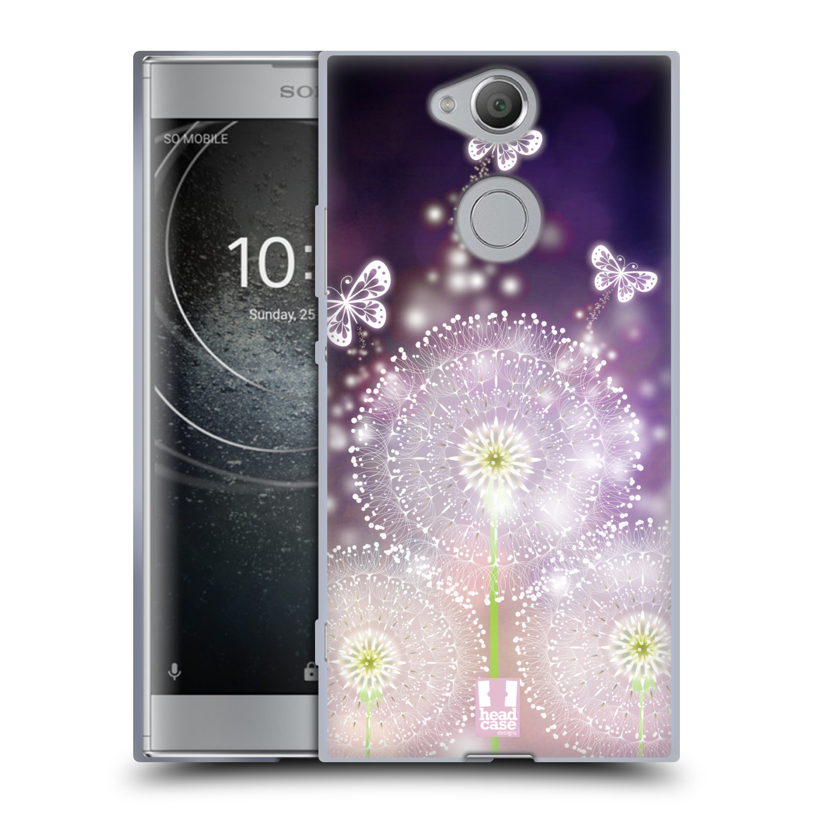 Silikonové pouzdro na mobil Sony Xperia XA2 - Head Case - Pampelišky a Motýlci