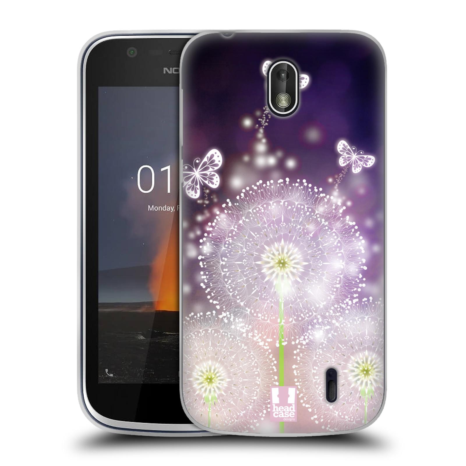 Silikonové pouzdro na mobil Nokia 1 - Head Case - Pampelišky a Motýlci