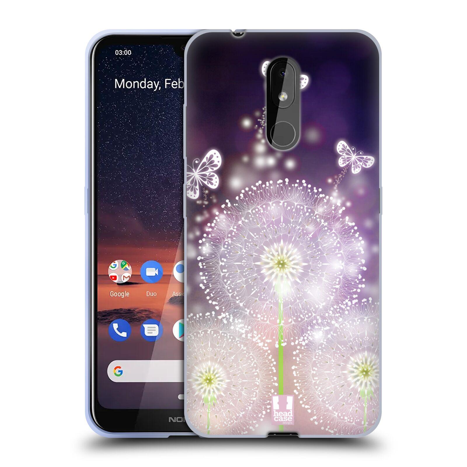 Silikonové pouzdro na mobil Nokia 3.2 - Head Case - Pampelišky a Motýlci