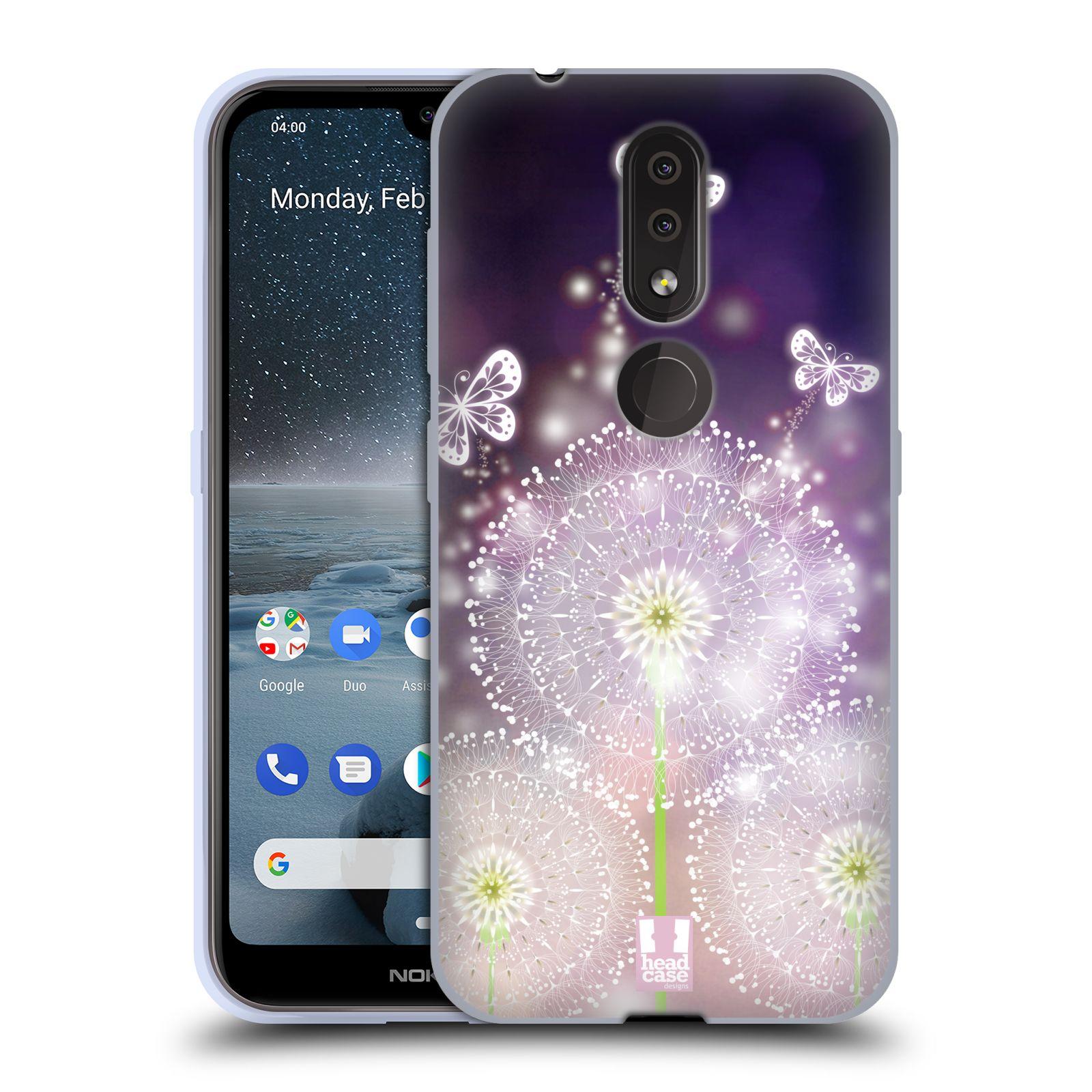 Silikonové pouzdro na mobil Nokia 4.2 - Head Case - Pampelišky a Motýlci