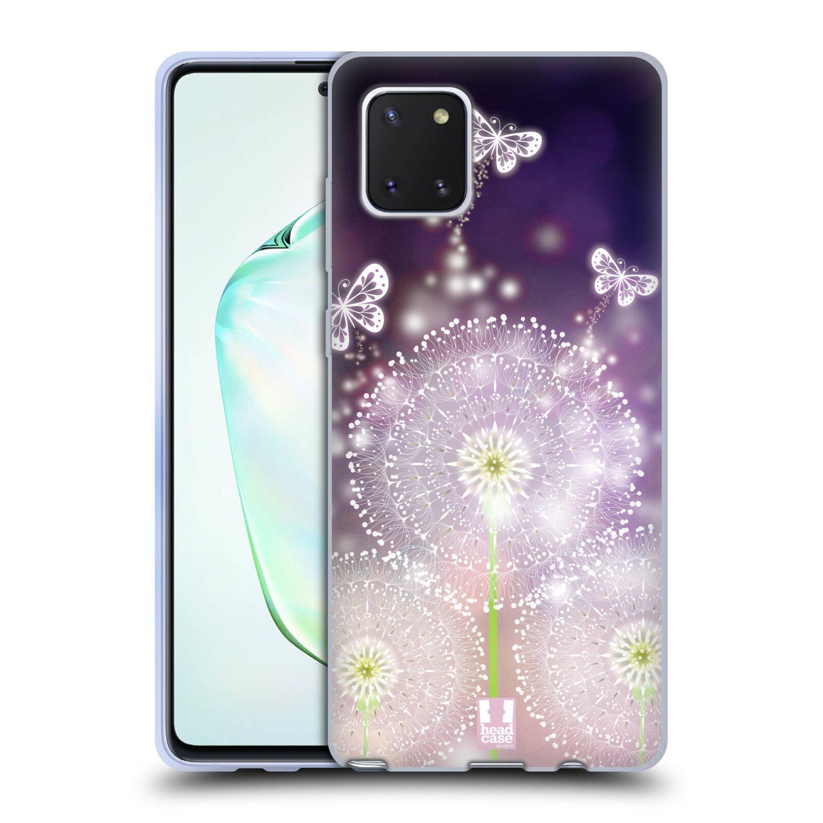 Silikonové pouzdro na mobil Samsung Galaxy Note 10 Lite - Head Case - Pampelišky a Motýlci