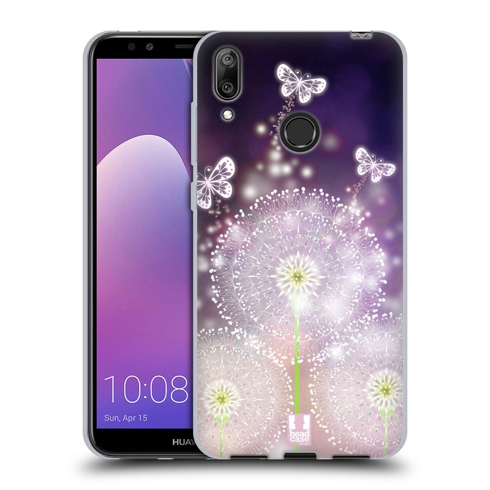 Silikonové pouzdro na mobil Huawei Y7 (2019) - Head Case - Pampelišky a Motýlci