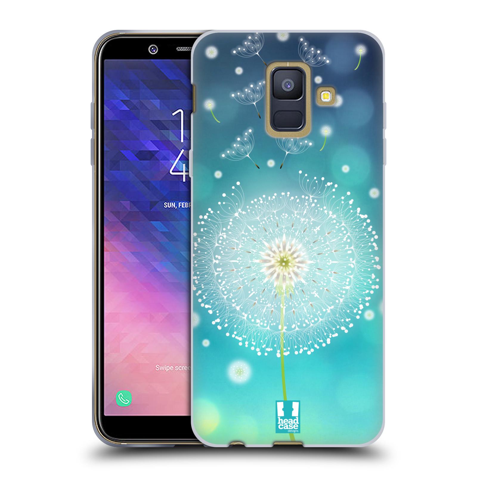 Silikonové pouzdro na mobil Samsung Galaxy A6 (2018) - Head Case - Rozlétaná pampeliška
