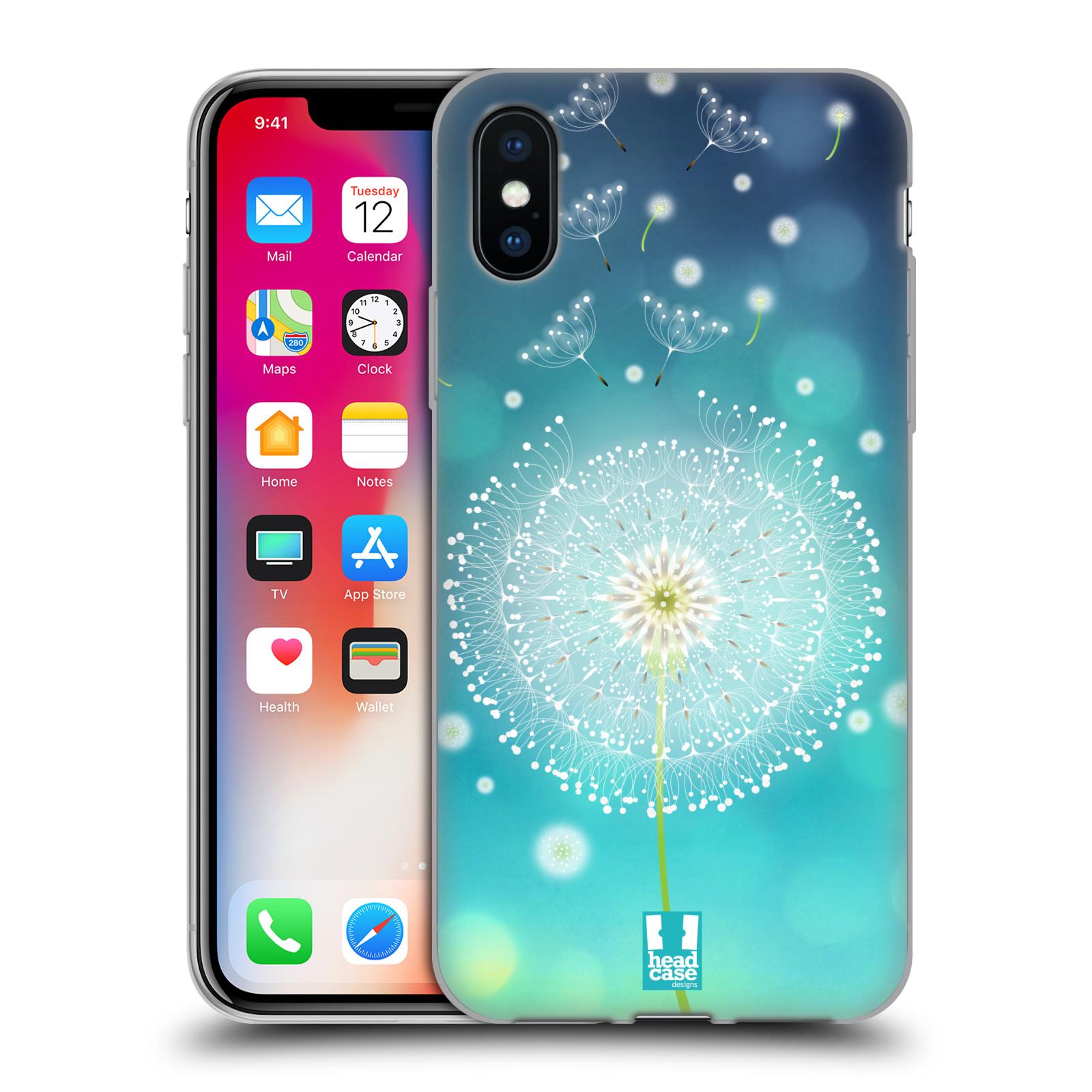 Silikonové pouzdro na mobil Apple iPhone XS - Head Case - Rozlétaná pampeliška
