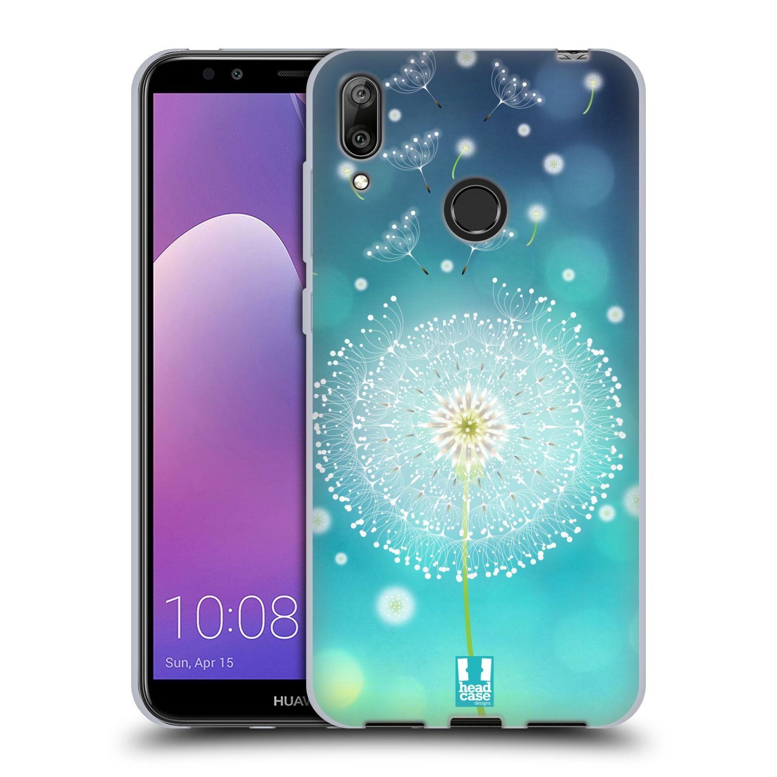 Silikonové pouzdro na mobil Huawei Y7 (2019) - Head Case - Rozlétaná pampeliška