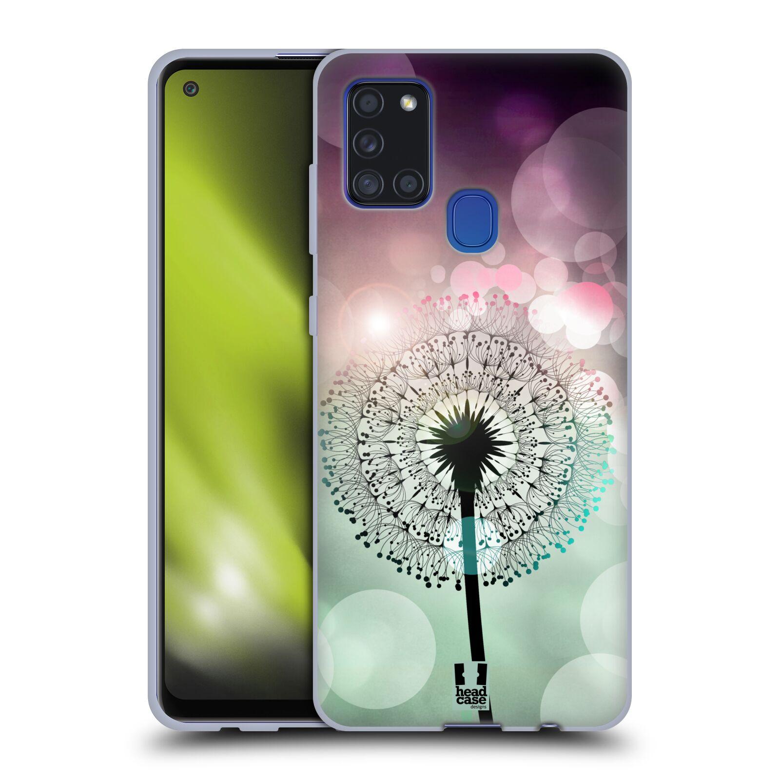 Silikonové pouzdro na mobil Samsung Galaxy A21s - Head Case - Pampeliškové odlesky
