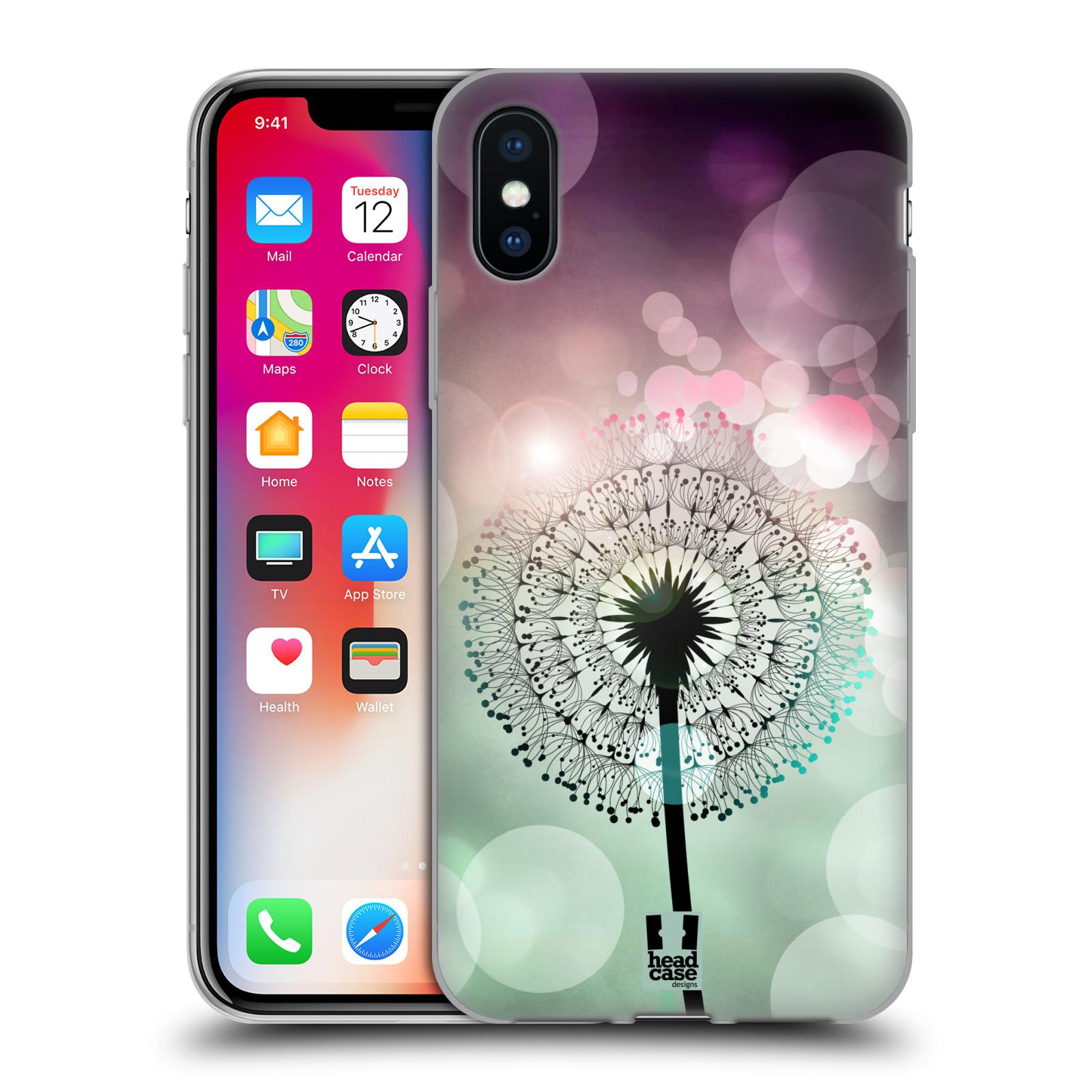 Silikonové pouzdro na mobil Apple iPhone XS - Head Case - Pampeliškové odlesky