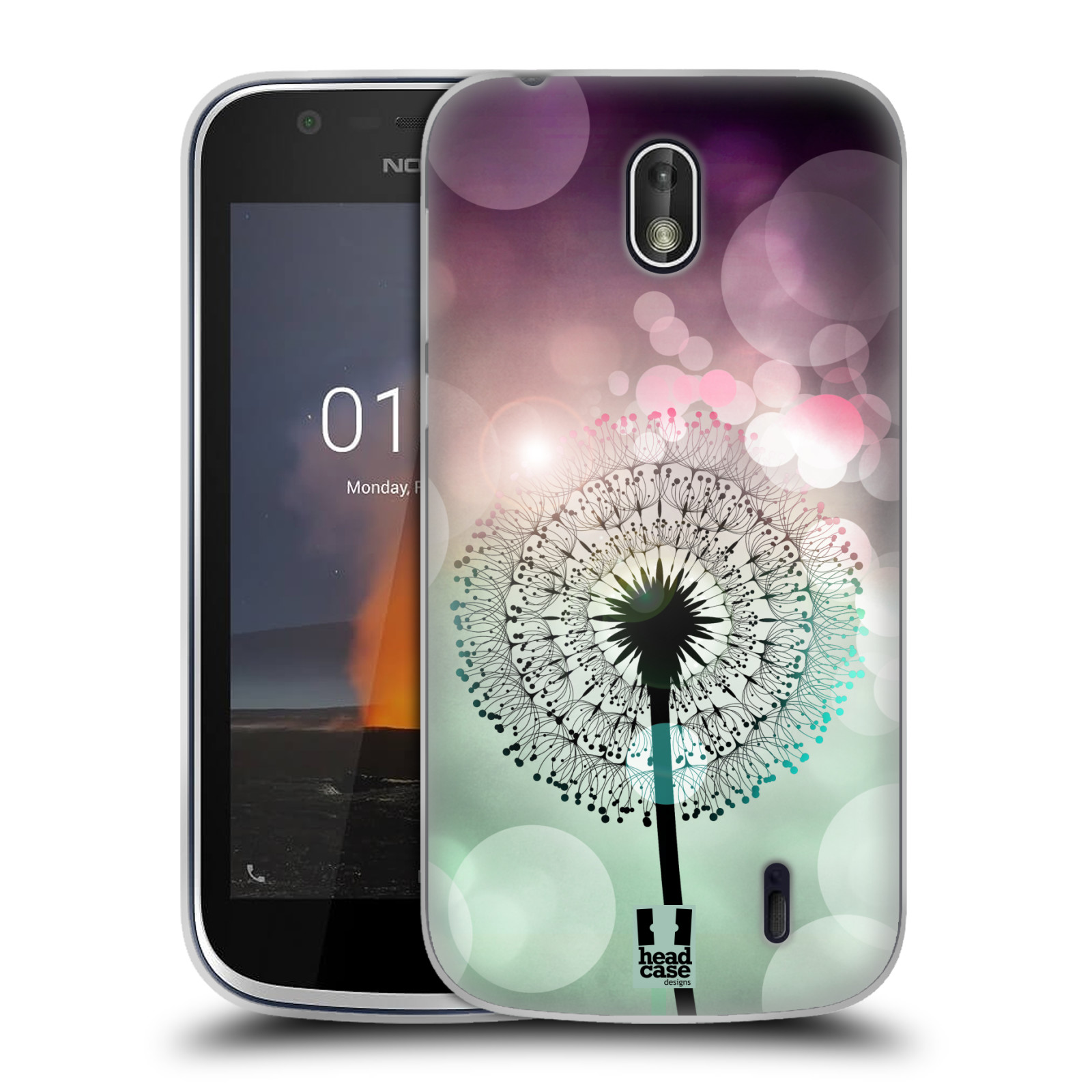 Silikonové pouzdro na mobil Nokia 1 - Head Case - Pampeliškové odlesky