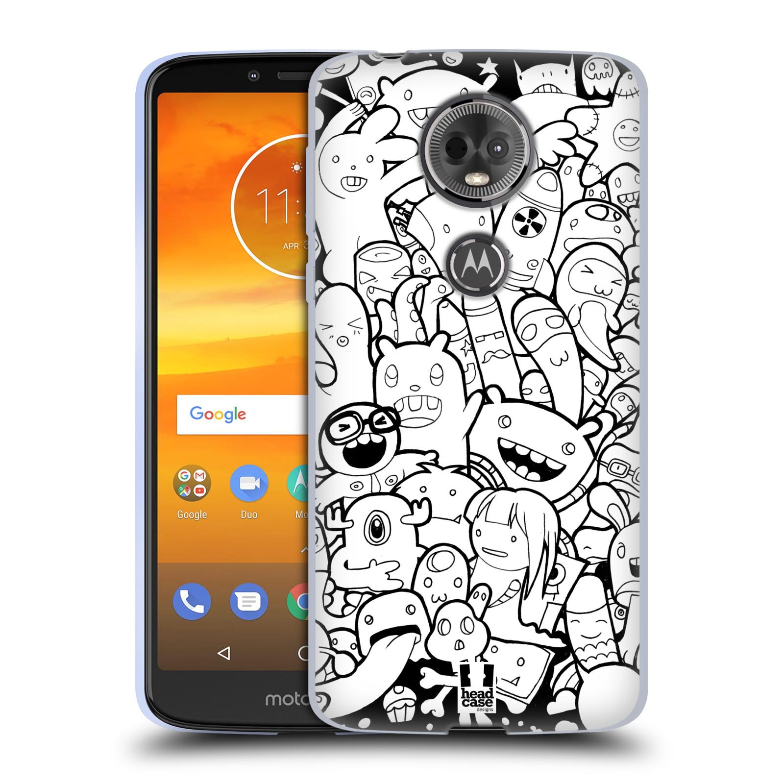 Silikonové pouzdro na mobil Motorola Moto E5 Plus - Head Case - DOODLE PŘÍŠERKY A MIMÍCI