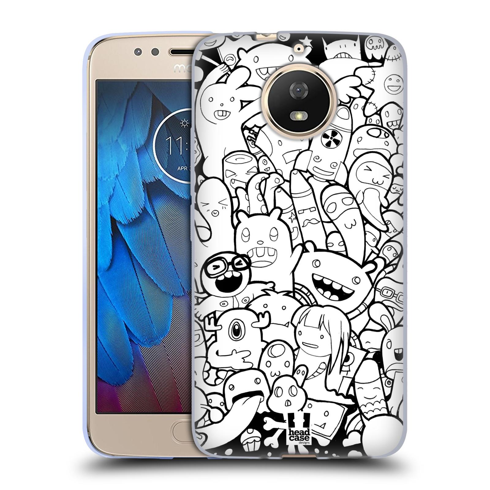 Silikonové pouzdro na mobil Lenovo Moto G5s - Head Case - DOODLE PŘÍŠERKY A MIMÍCI