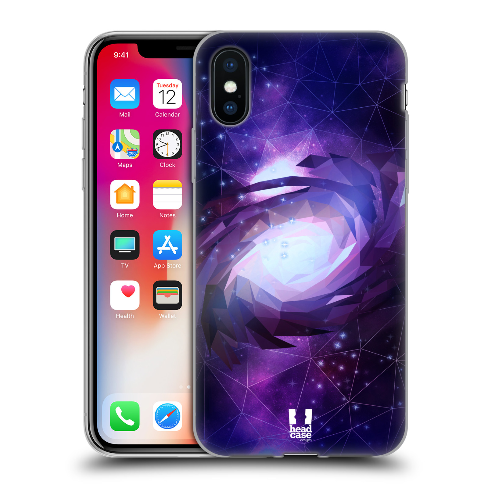 Silikonové pouzdro na mobil Apple iPhone XS - Head Case - UNIVERSE SPIRAL