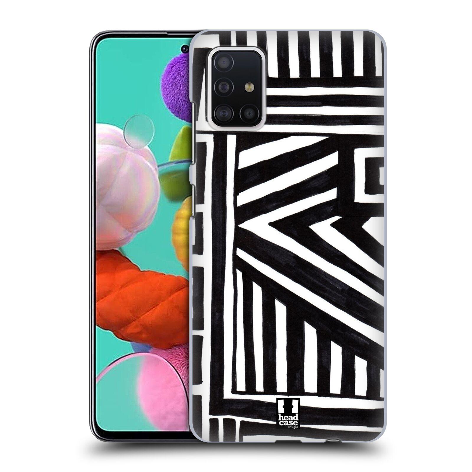 Plastové pouzdro na mobil Samsung Galaxy A51 - Head Case - DOODLE GEOMETRIC