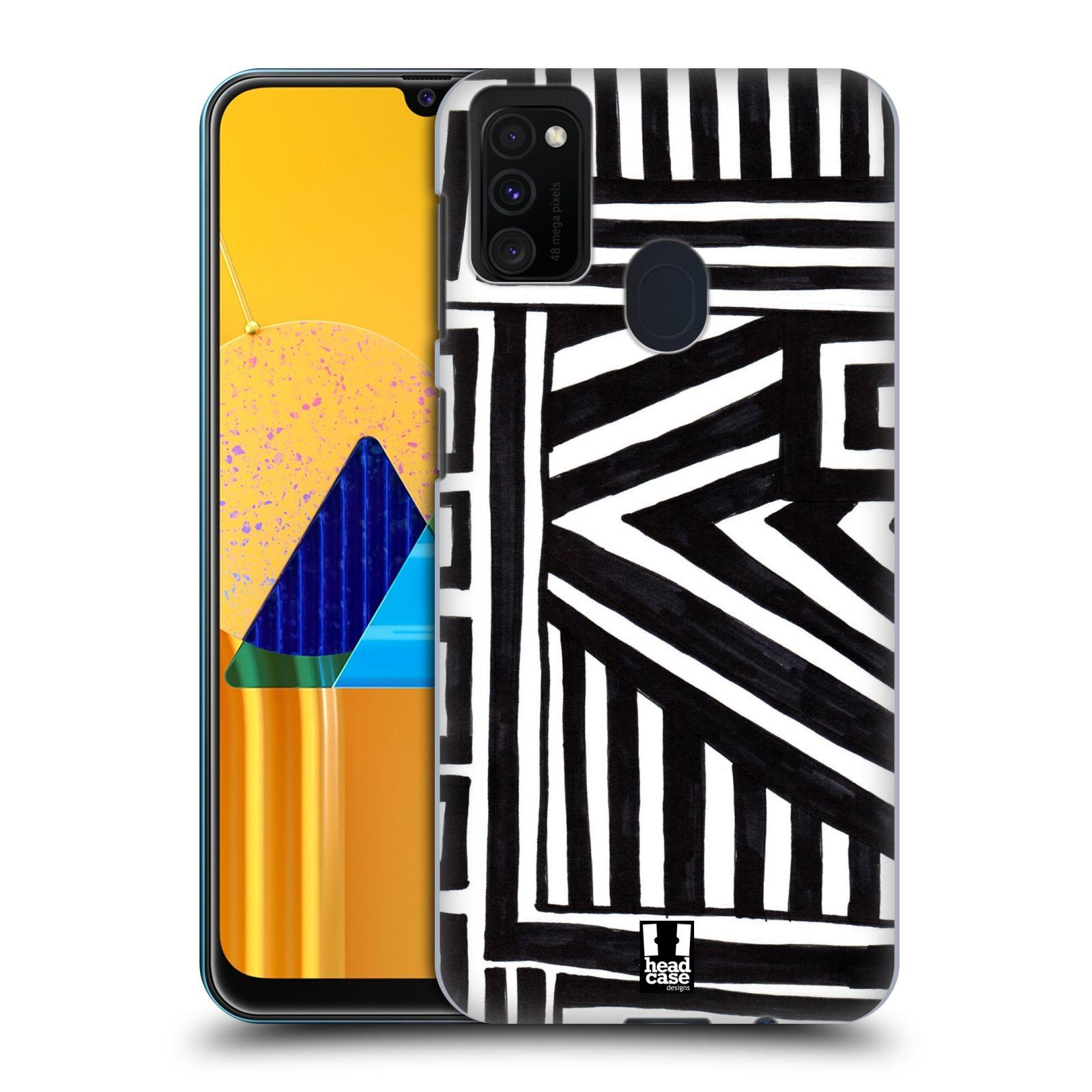 Plastové pouzdro na mobil Samsung Galaxy M21 - Head Case - DOODLE GEOMETRIC
