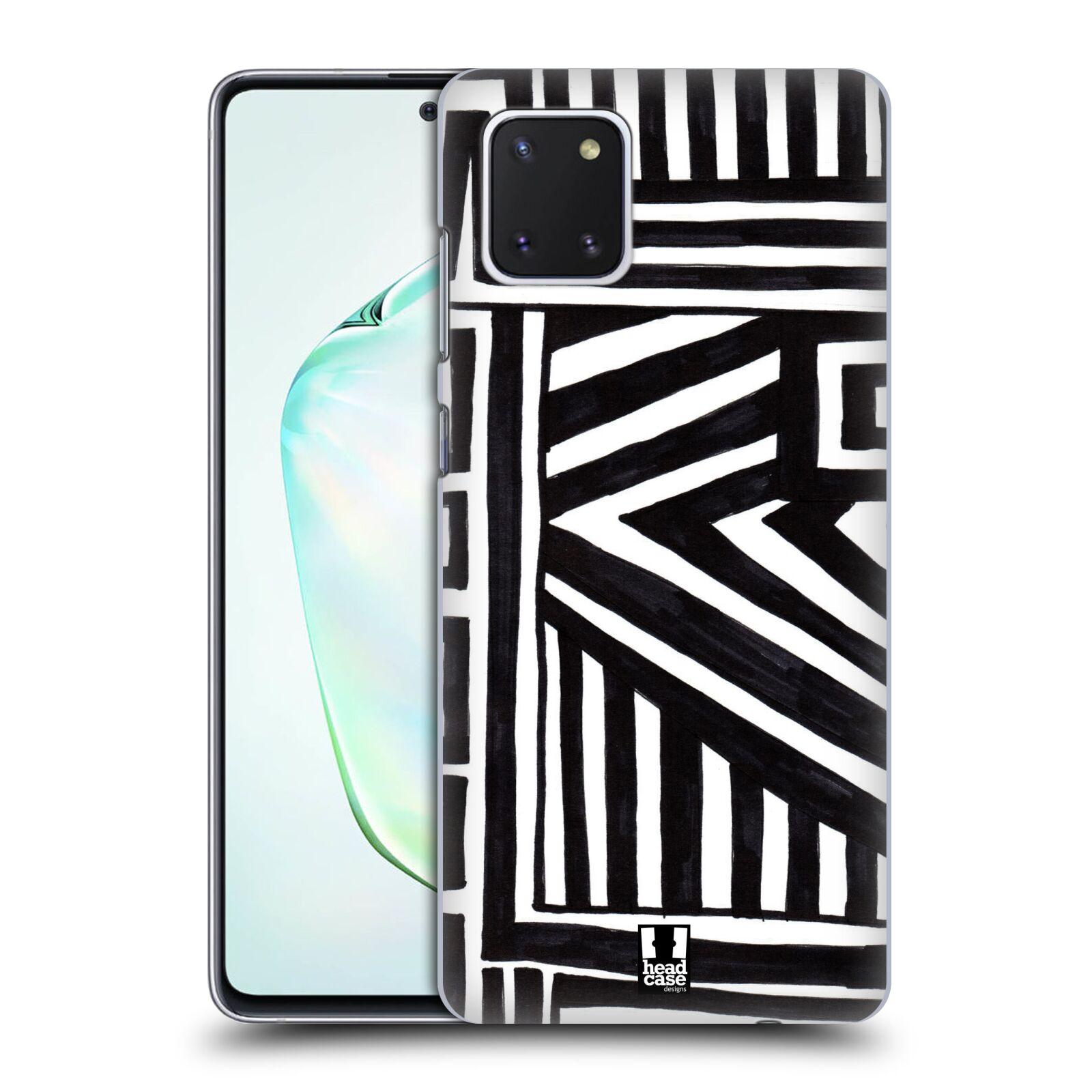 Plastové pouzdro na mobil Samsung Galaxy Note 10 Lite - Head Case - DOODLE GEOMETRIC
