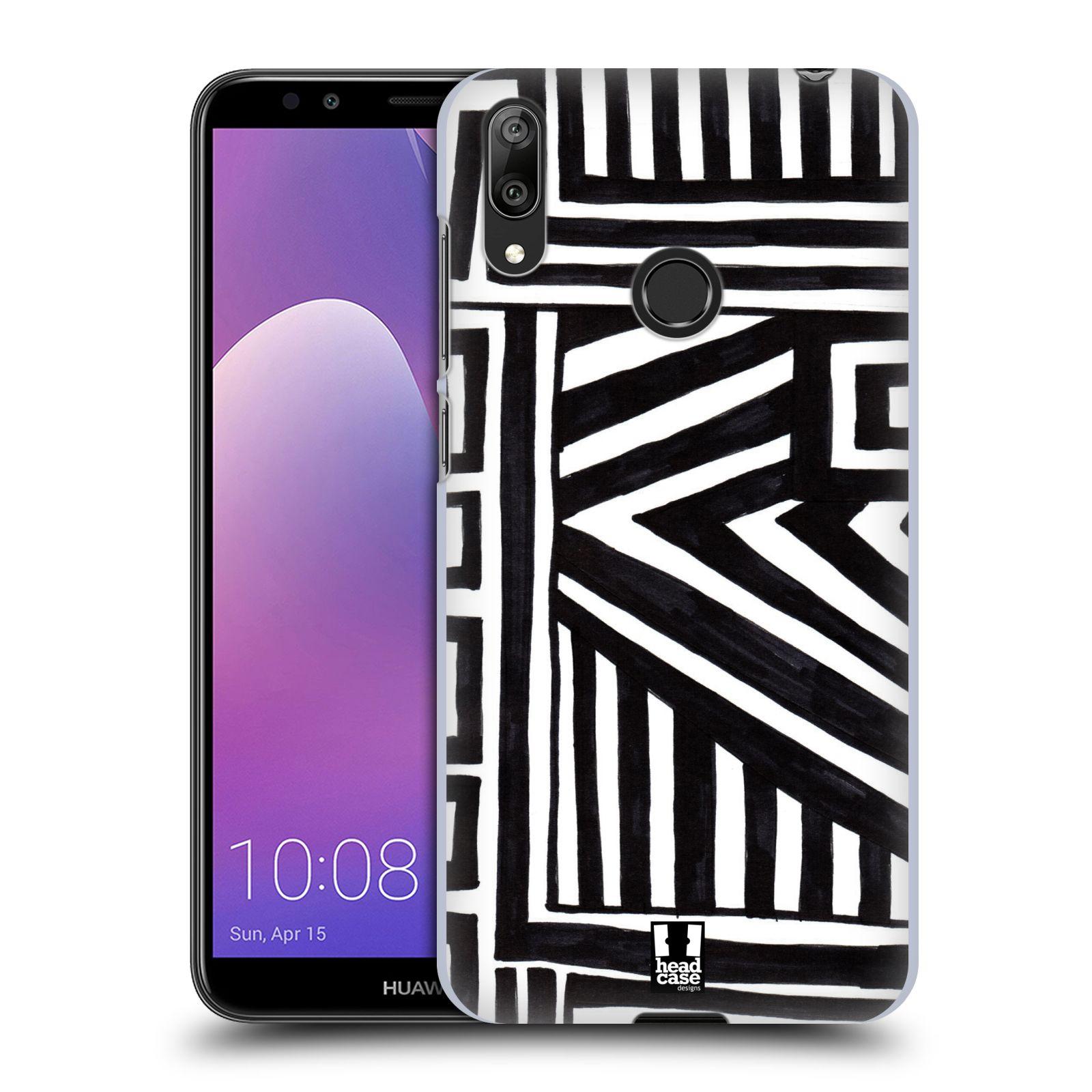 Plastové pouzdro na mobil Huawei Y7 (2019) - Head Case - DOODLE GEOMETRIC