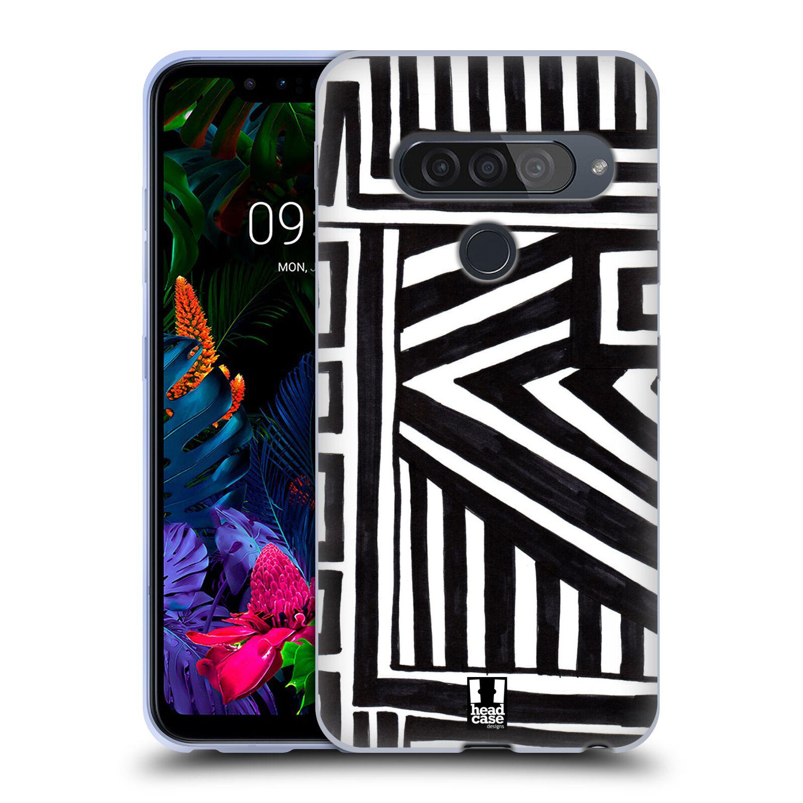Silikonové pouzdro na mobil LG G8s ThinQ - Head Case - DOODLE GEOMETRIC
