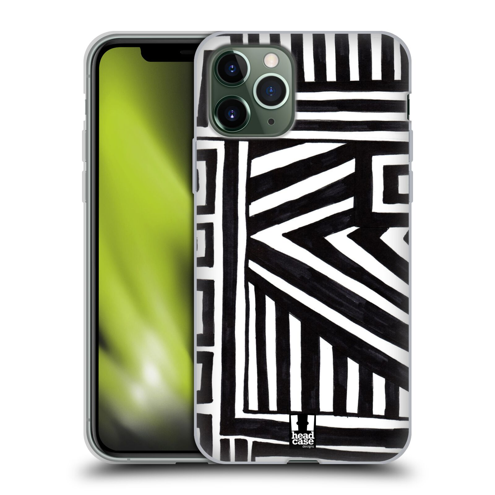 apple iphone xs kryt | Silikonové pouzdro na mobil Apple iPhone 11 Pro - Head Case - DOODLE GEOMETRIC