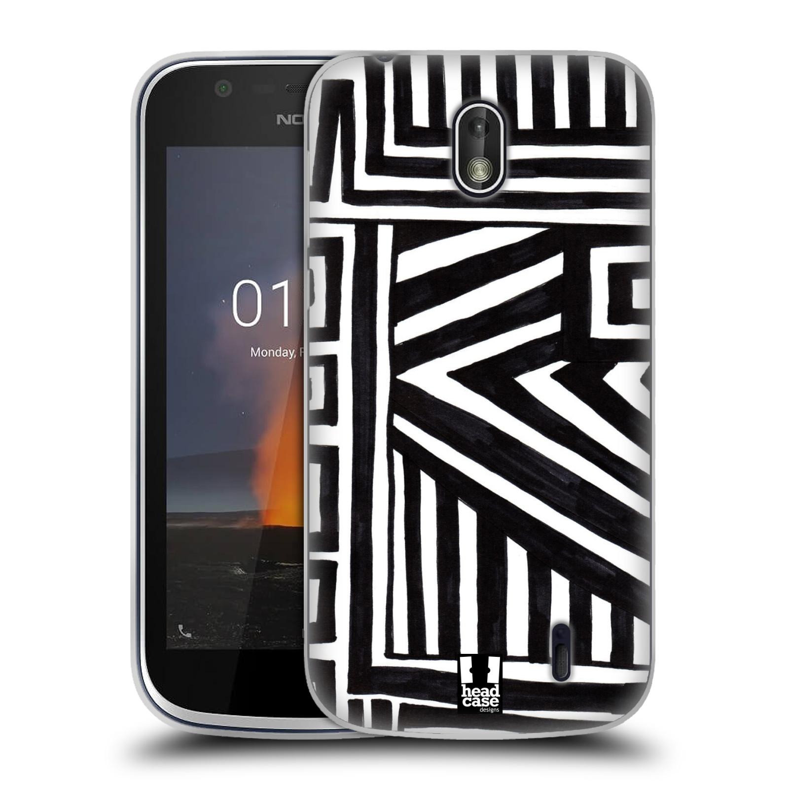 Silikonové pouzdro na mobil Nokia 1 - Head Case - DOODLE GEOMETRIC