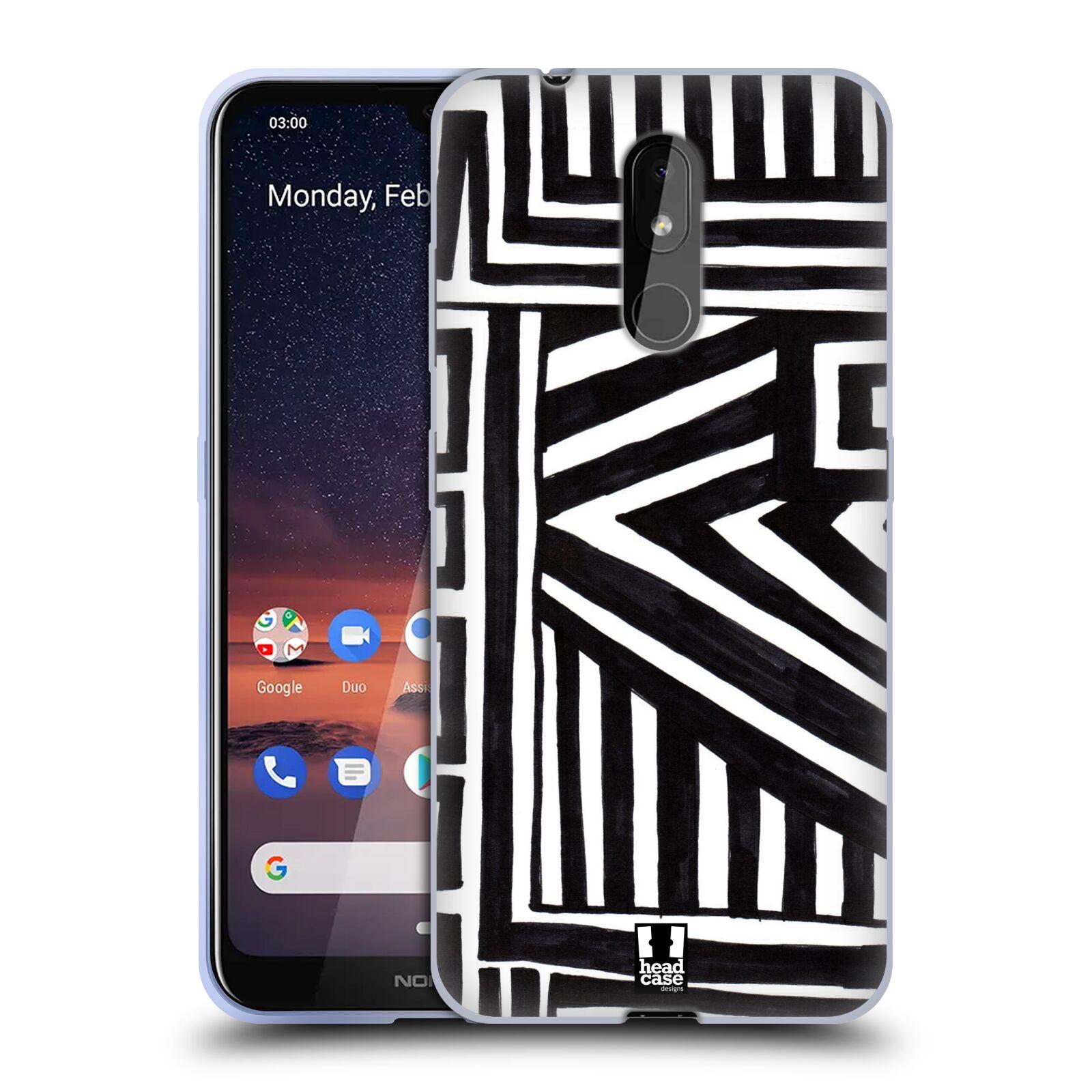 Silikonové pouzdro na mobil Nokia 3.2 - Head Case - DOODLE GEOMETRIC