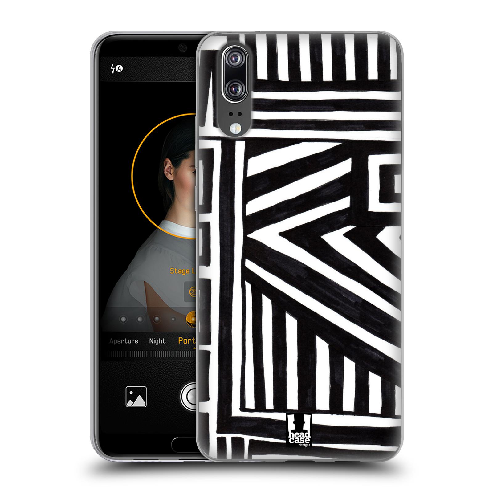 Silikonové pouzdro na mobil Huawei P20 - Head Case - DOODLE GEOMETRIC