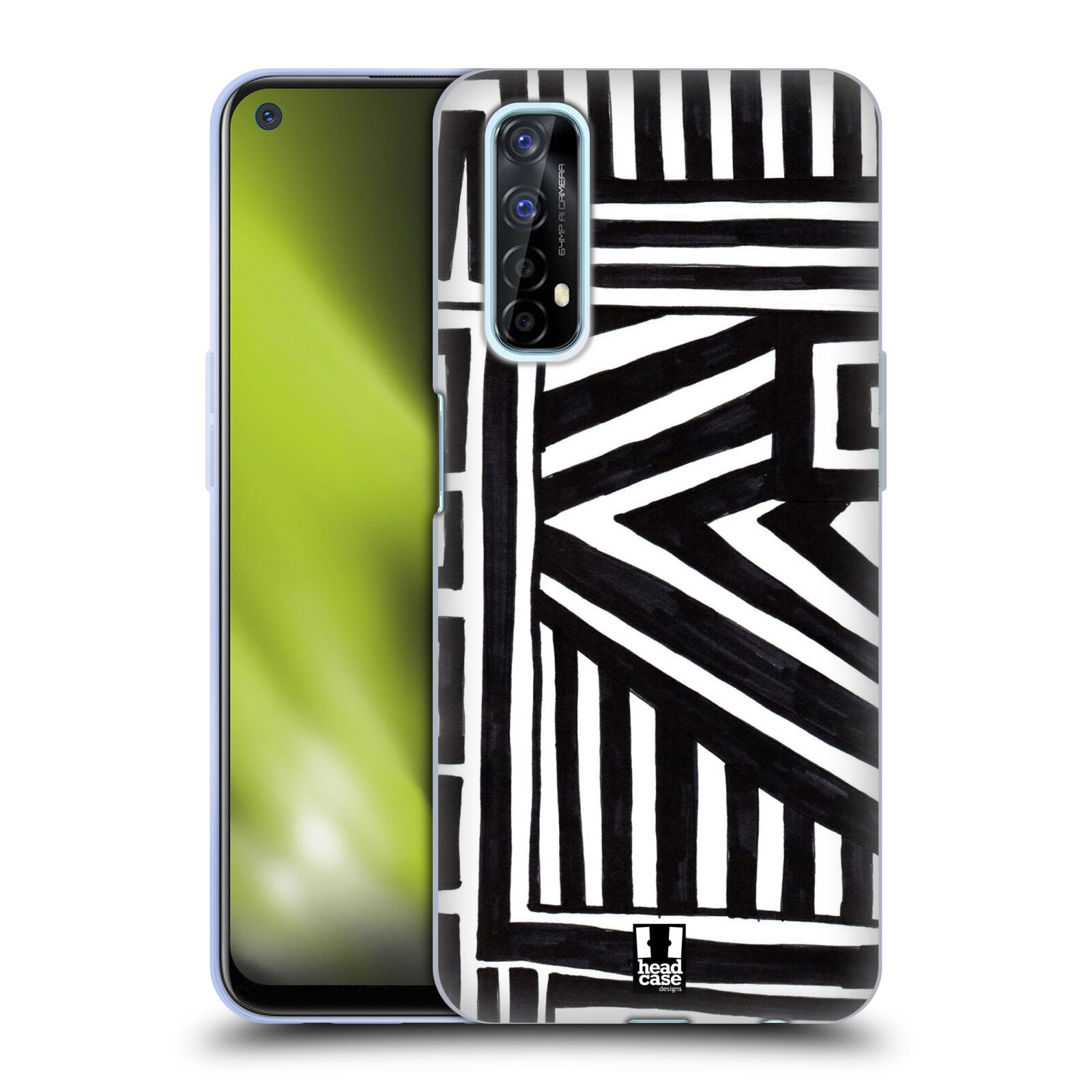 Silikonové pouzdro na mobil Realme 7 - Head Case - DOODLE GEOMETRIC
