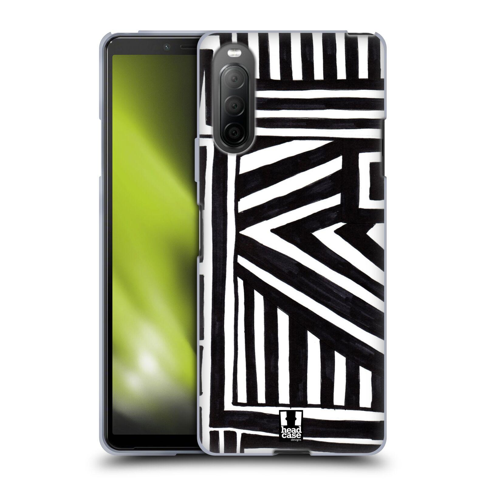 Silikonové pouzdro na mobil Sony Xperia 10 II - Head Case - DOODLE GEOMETRIC