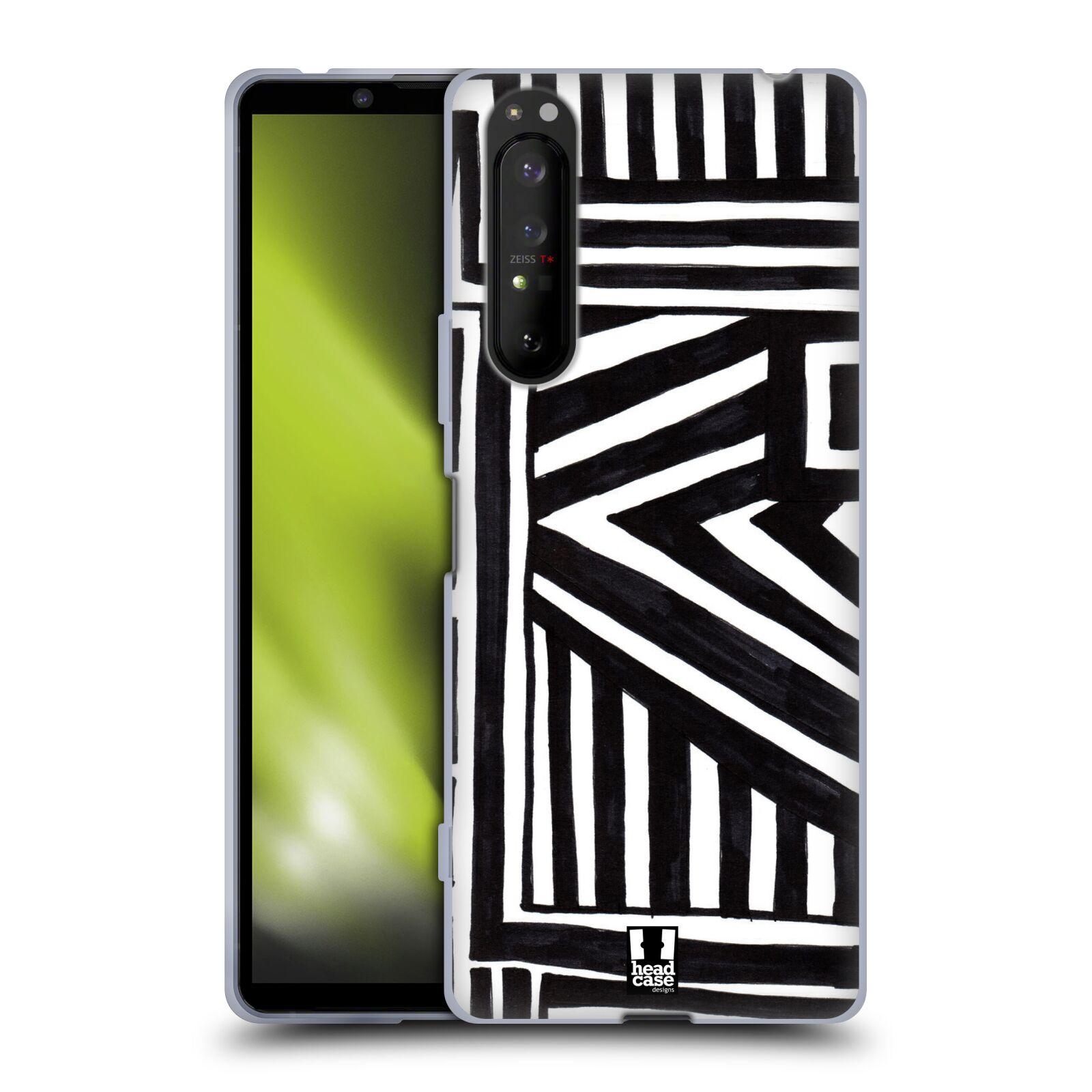Silikonové pouzdro na mobil Sony Xperia 1 II - Head Case - DOODLE GEOMETRIC