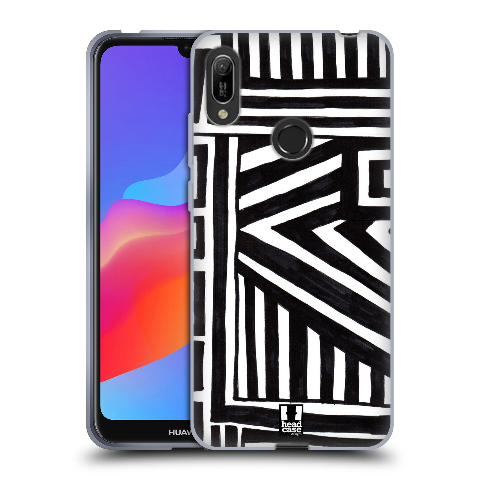 Silikonové pouzdro na mobil Huawei Y6 (2019) - Head Case - DOODLE GEOMETRIC