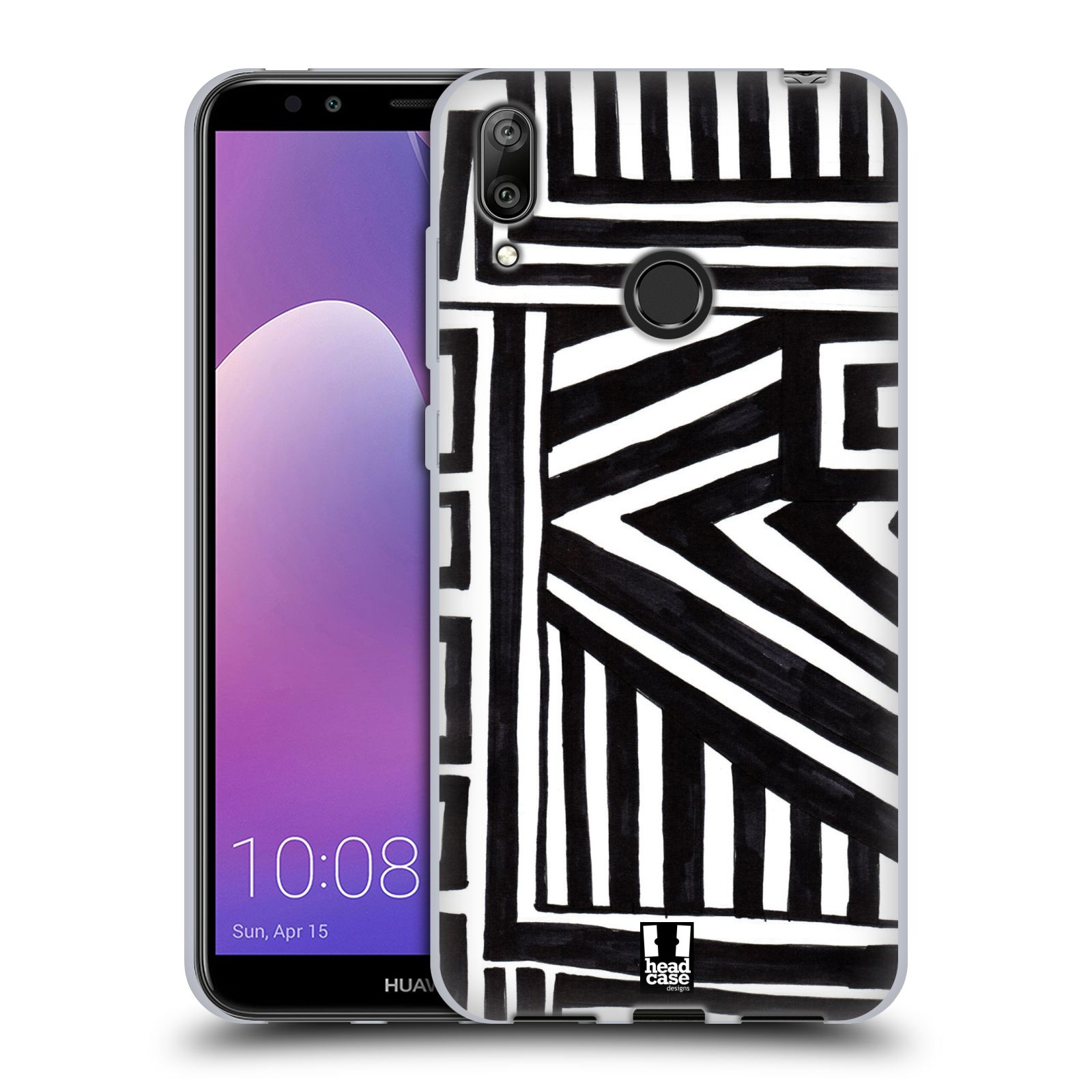 Silikonové pouzdro na mobil Huawei Y7 (2019) - Head Case - DOODLE GEOMETRIC