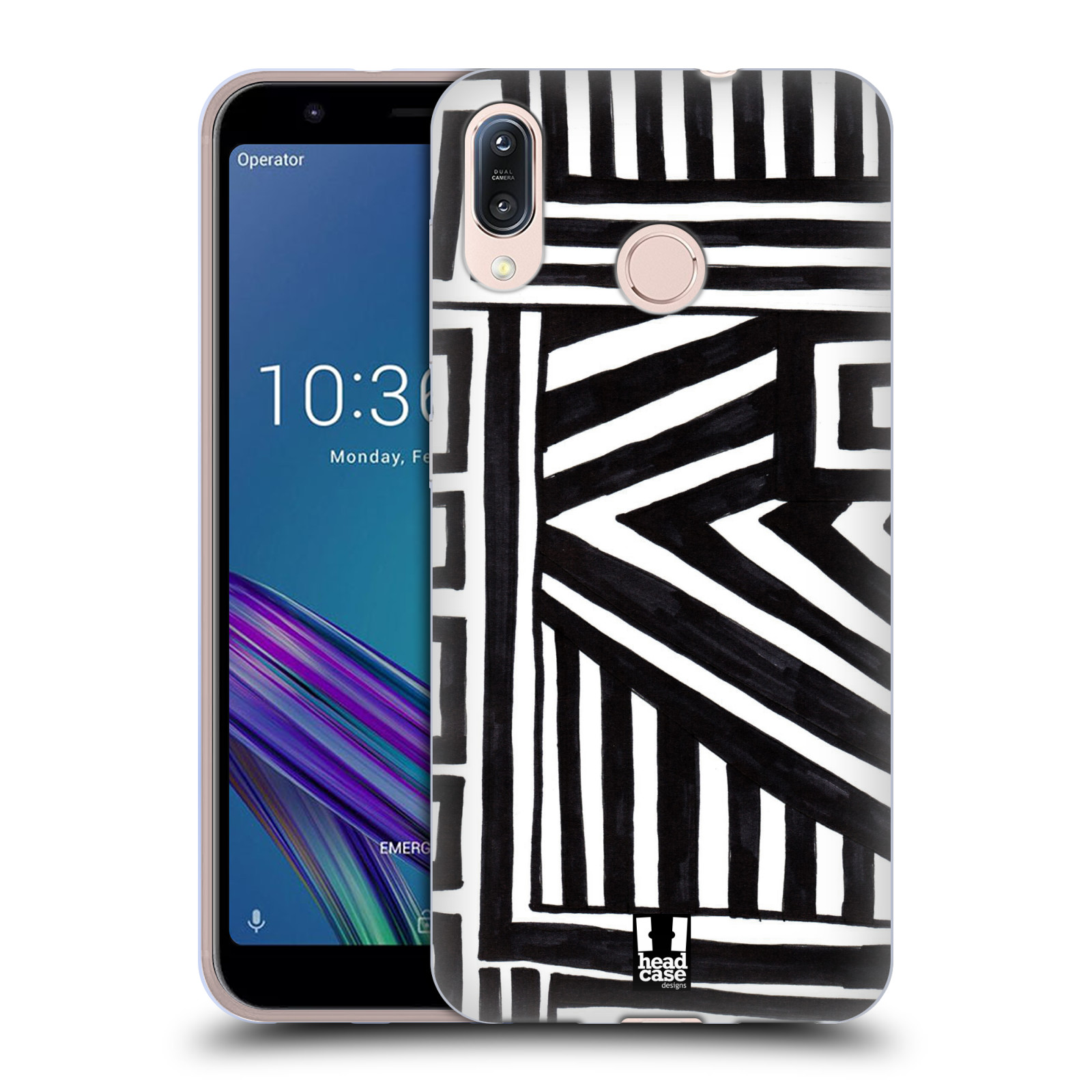 Silikonové pouzdro na mobil Asus Zenfone Max M1 ZB555KL - Head Case - DOODLE GEOMETRIC