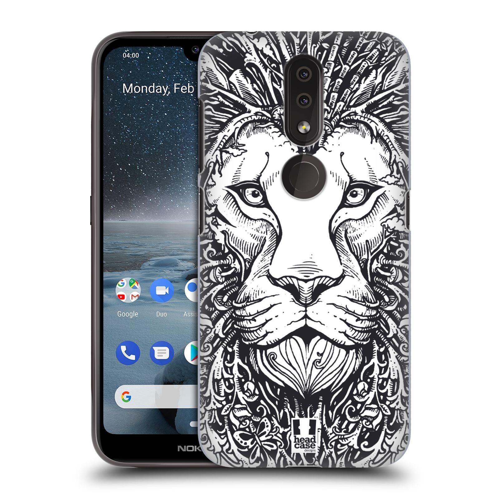Plastové pouzdro na mobil Nokia 4.2 - Head Case - DOODLE TVÁŘ LEV