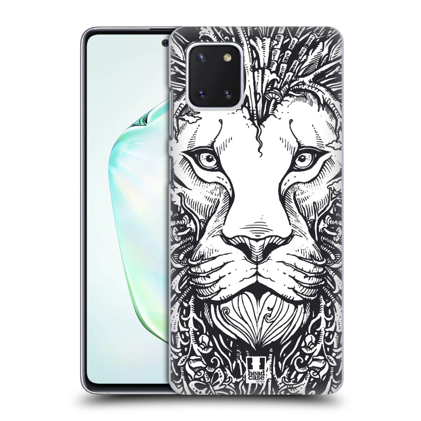 Plastové pouzdro na mobil Samsung Galaxy Note 10 Lite - Head Case - DOODLE TVÁŘ LEV