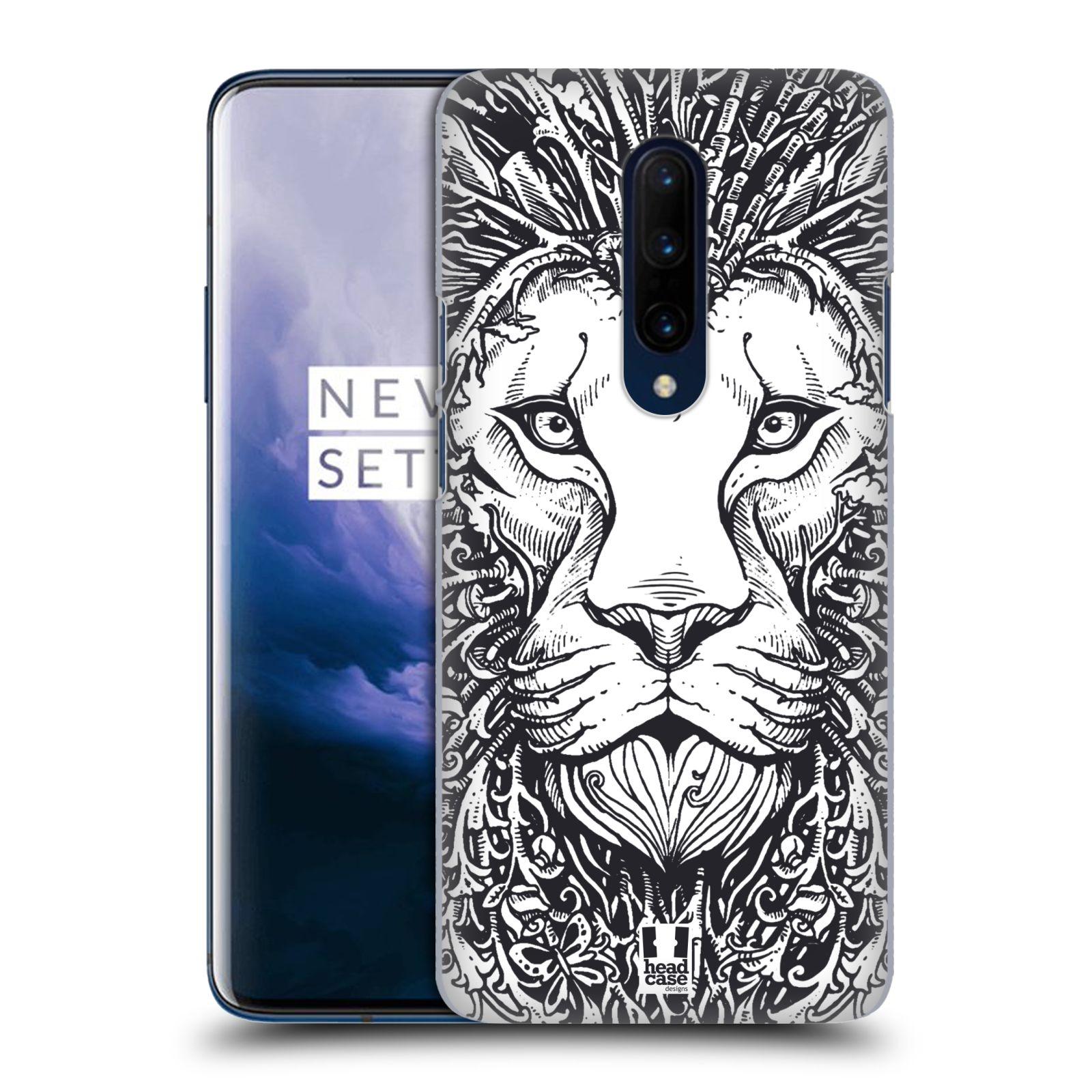 Plastové pouzdro na mobil OnePlus 7 Pro - Head Case - DOODLE TVÁŘ LEV