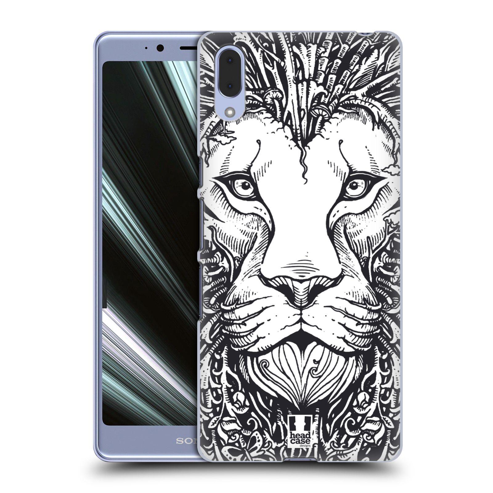 Plastové pouzdro na mobil Sony Xperia L3 - Head Case - DOODLE TVÁŘ LEV