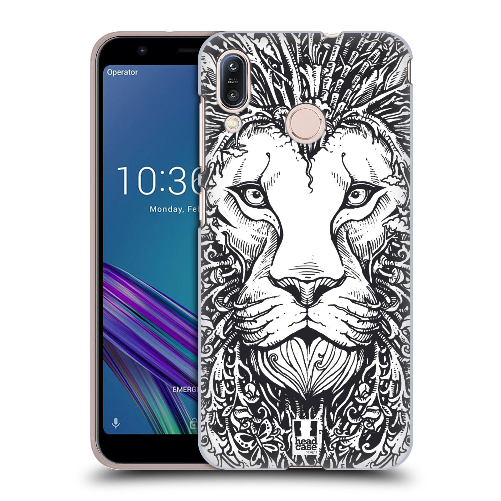 Plastové pouzdro na mobil Asus Zenfone Max M1 ZB555KL - Head Case - DOODLE TVÁŘ LEV
