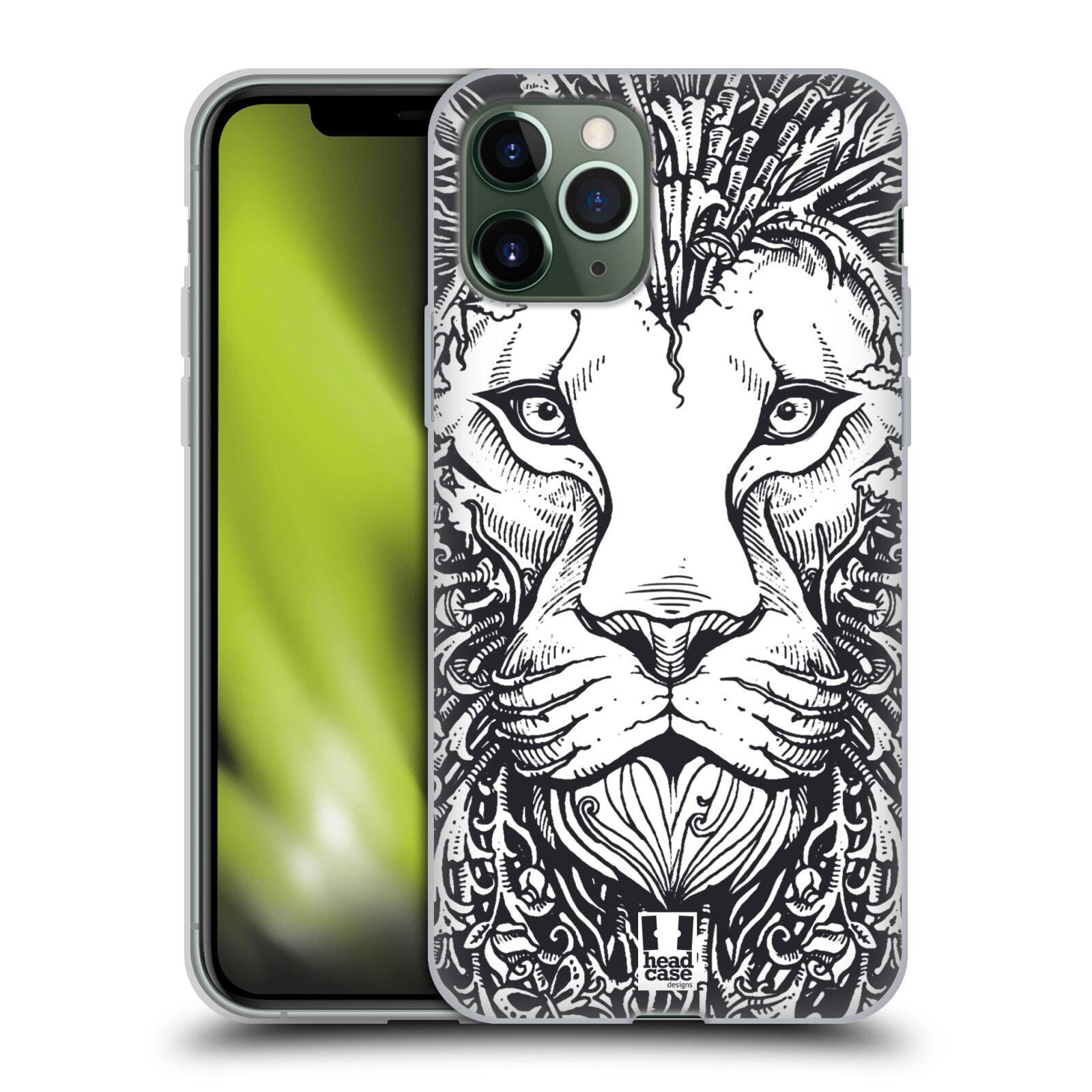 zavírací pouzdro na iphone 8 | Silikonové pouzdro na mobil Apple iPhone 11 Pro - Head Case - DOODLE TVÁŘ LEV