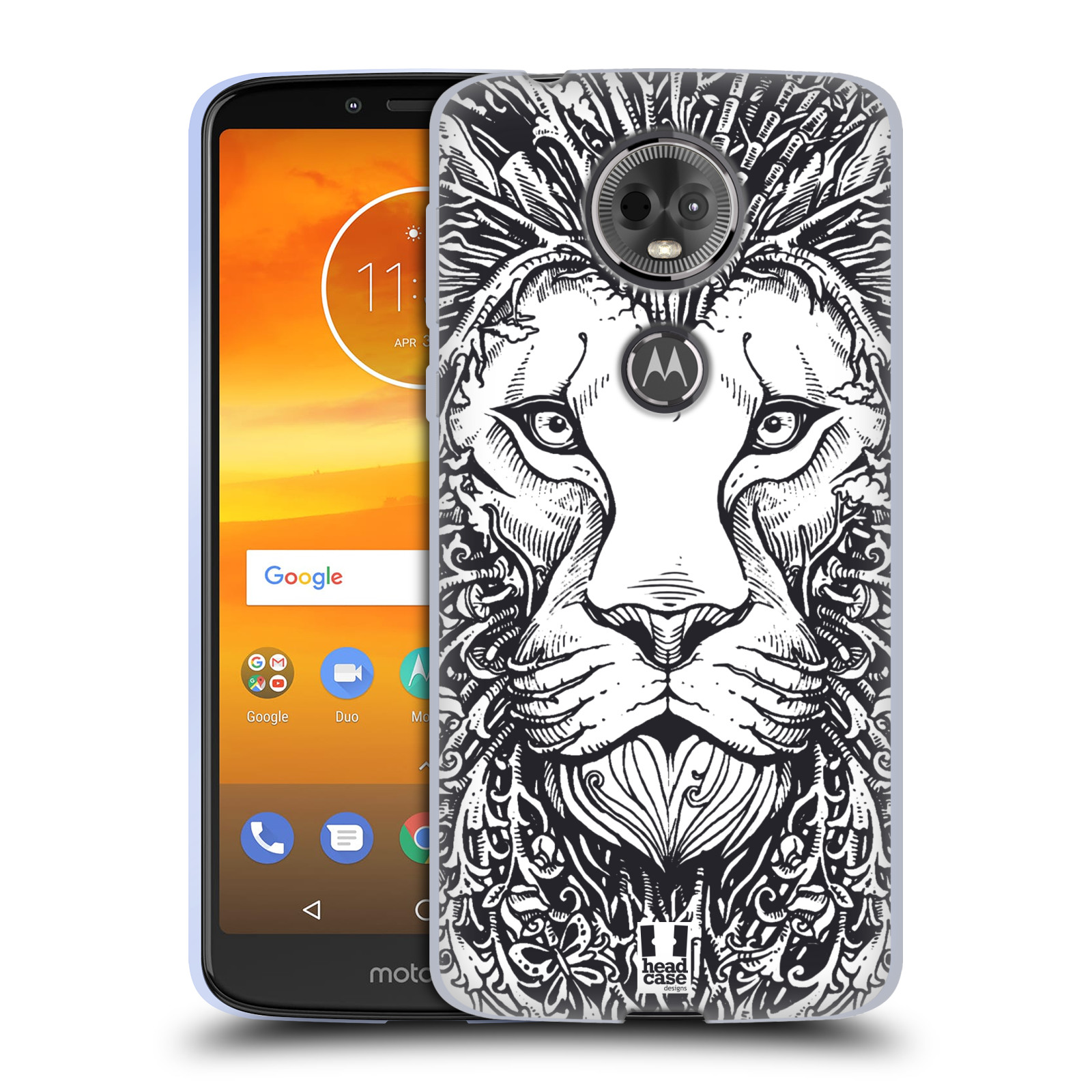 Silikonové pouzdro na mobil Motorola Moto E5 Plus - Head Case - DOODLE TVÁŘ LEV