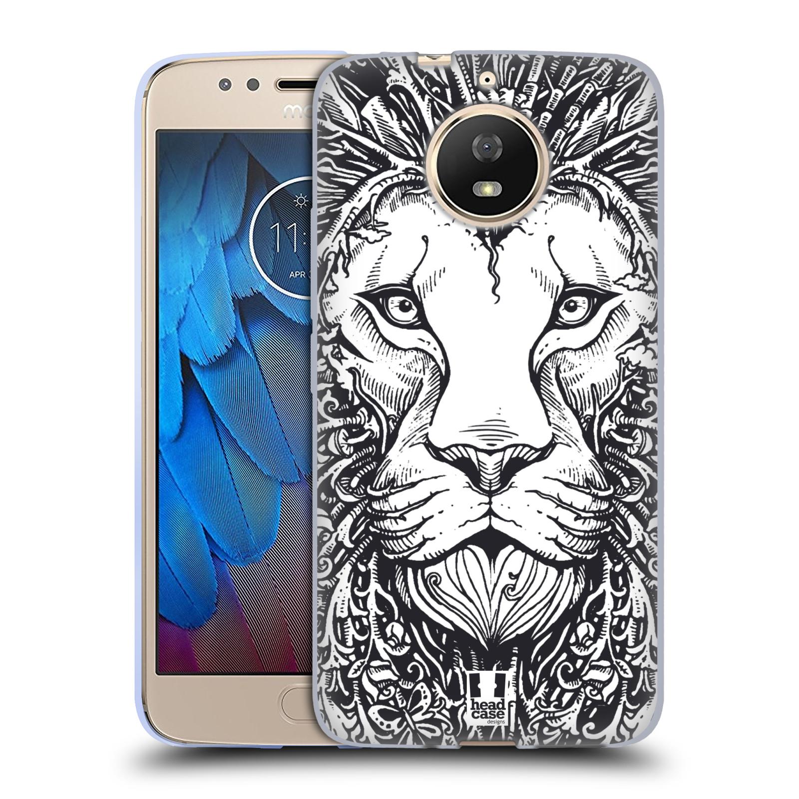 Silikonové pouzdro na mobil Lenovo Moto G5s - Head Case - DOODLE TVÁŘ LEV