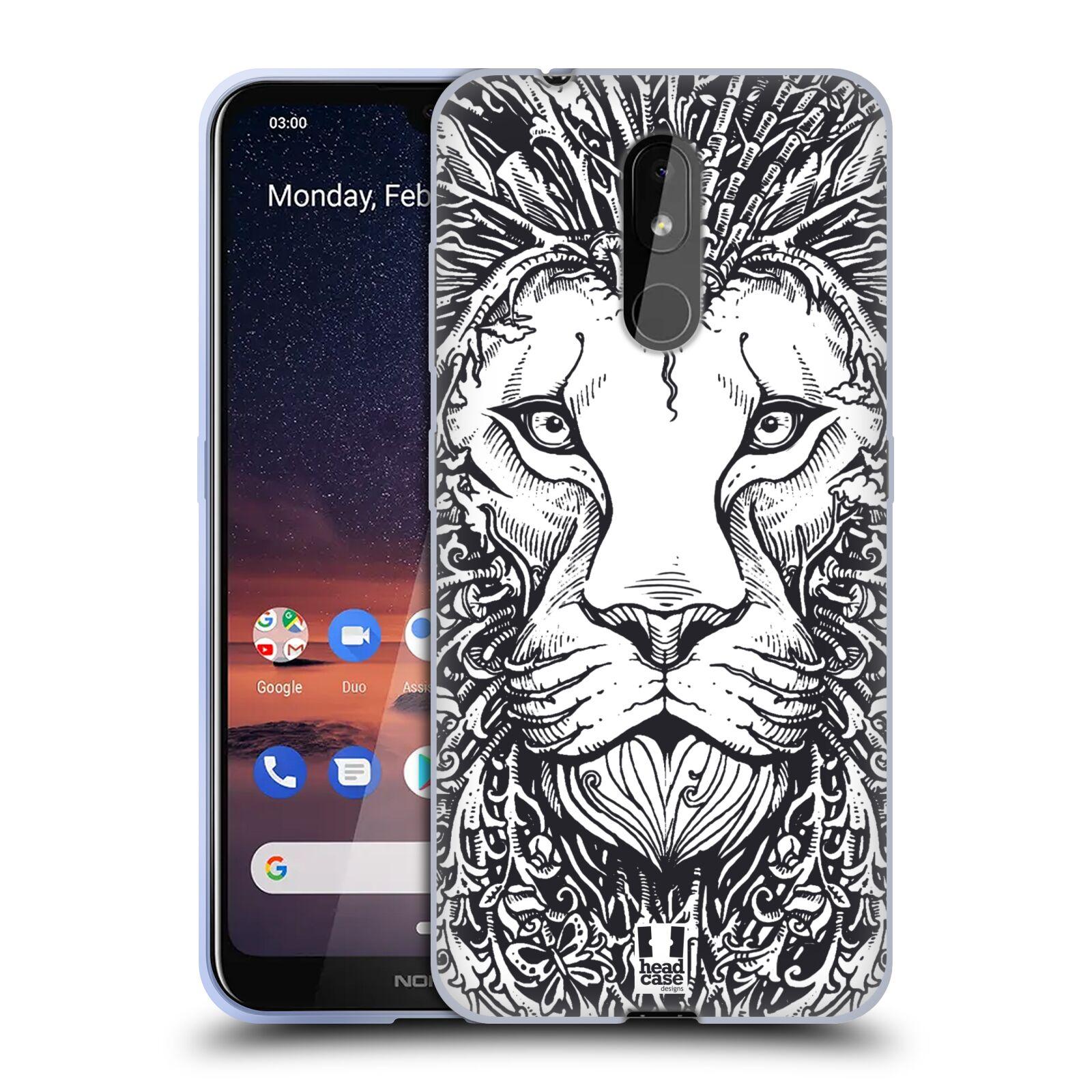 Silikonové pouzdro na mobil Nokia 3.2 - Head Case - DOODLE TVÁŘ LEV