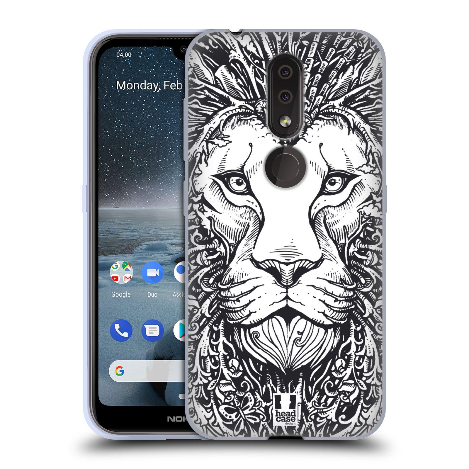 Silikonové pouzdro na mobil Nokia 4.2 - Head Case - DOODLE TVÁŘ LEV