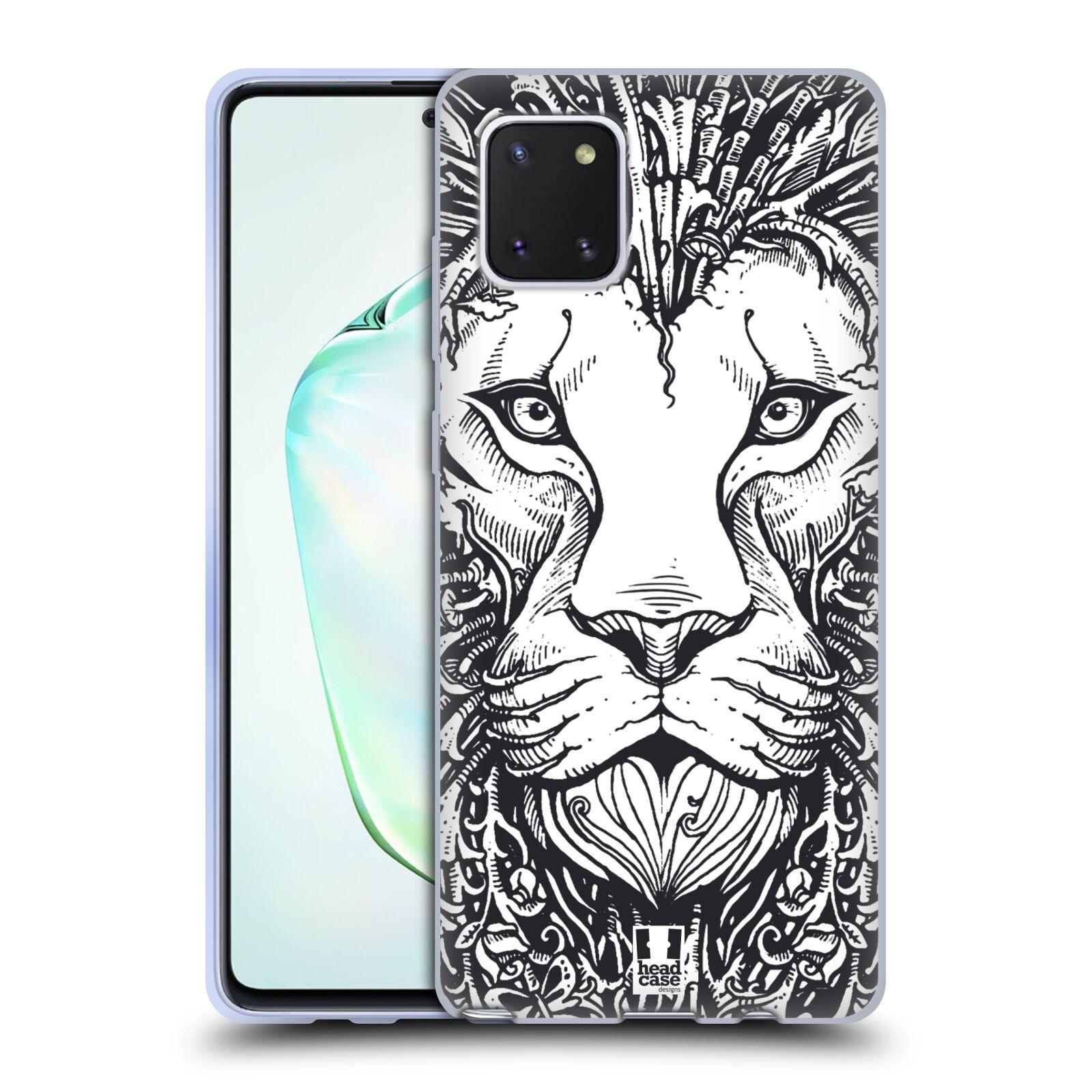Silikonové pouzdro na mobil Samsung Galaxy Note 10 Lite - Head Case - DOODLE TVÁŘ LEV