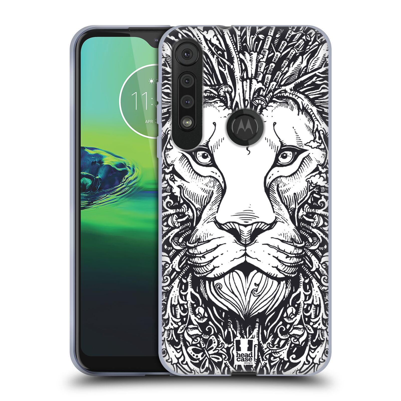 Silikonové pouzdro na mobil Motorola One Macro - Head Case - DOODLE TVÁŘ LEV