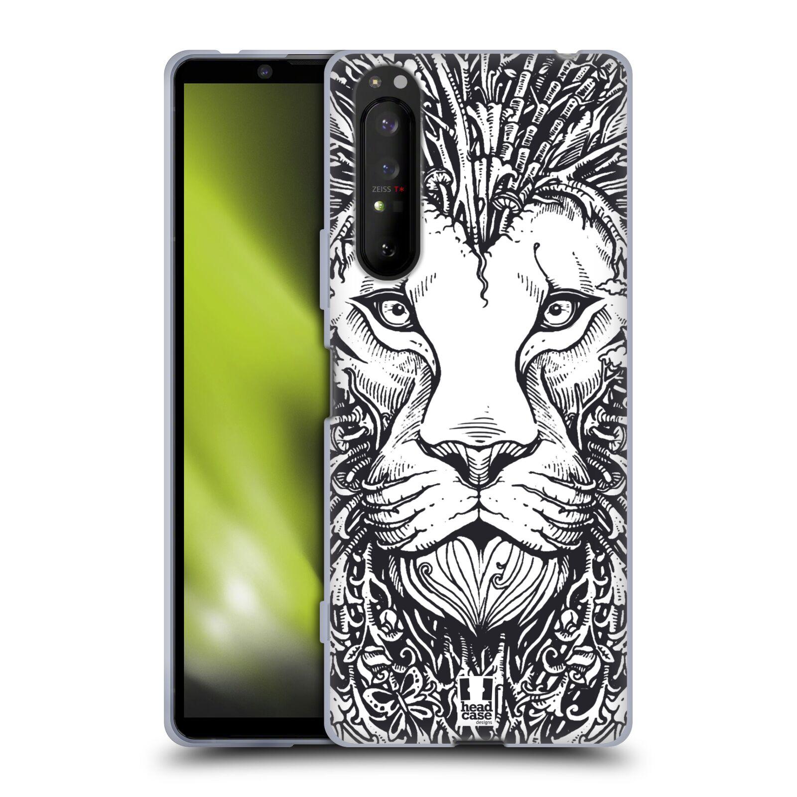 Silikonové pouzdro na mobil Sony Xperia 1 II - Head Case - DOODLE TVÁŘ LEV