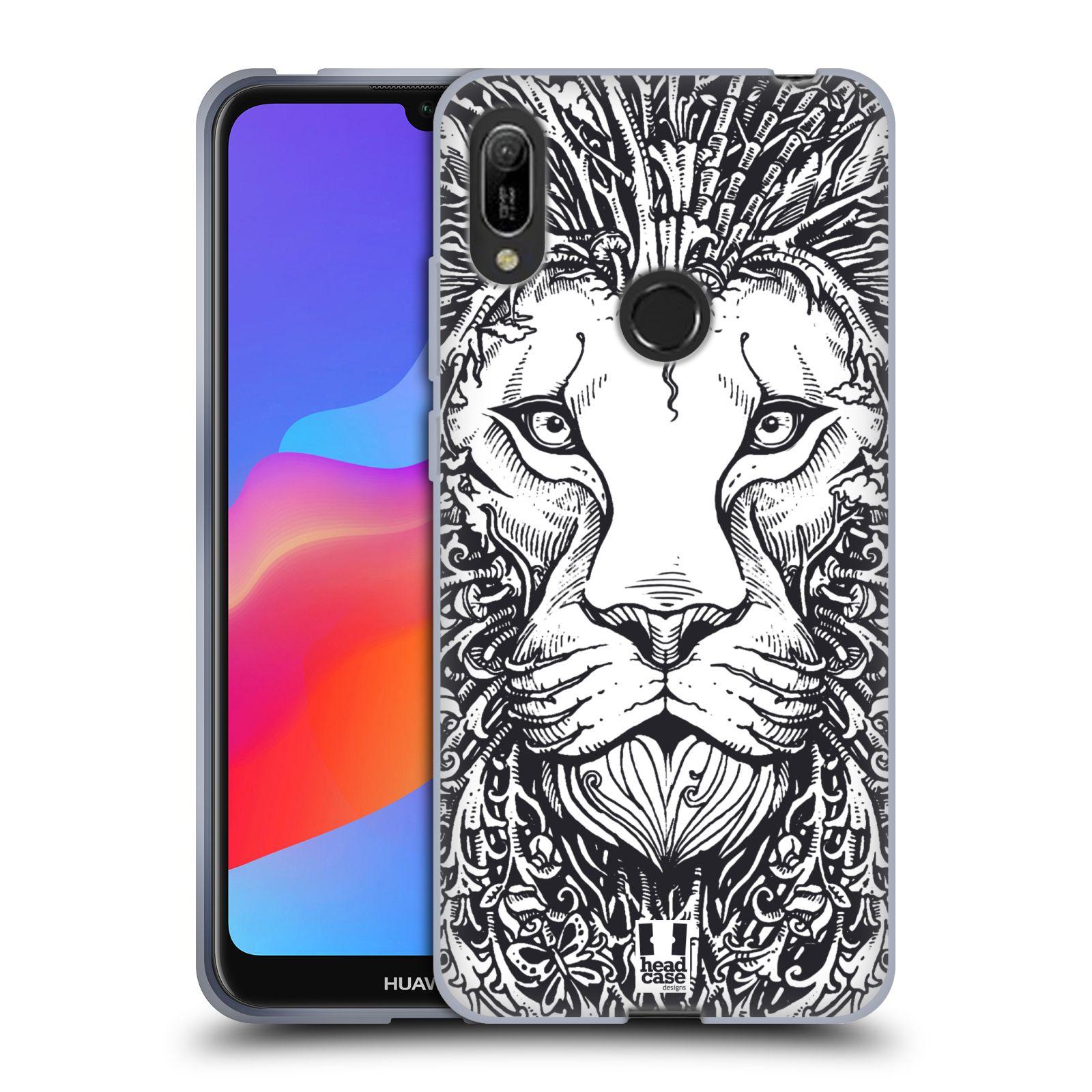 Silikonové pouzdro na mobil Huawei Y6 (2019) - Head Case - DOODLE TVÁŘ LEV