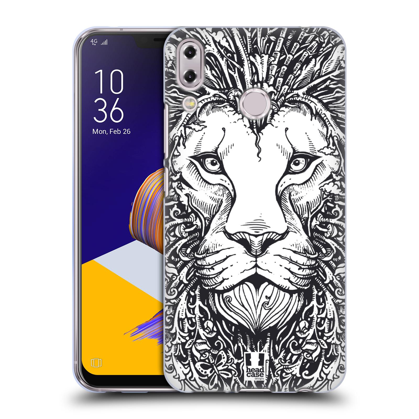 Silikonové pouzdro na mobil Asus Zenfone 5z ZS620KL - Head Case - DOODLE TVÁŘ LEV